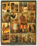 Мученик Иоанн Воин, со сценами жития
