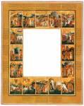Рама с клеймами сказания оВладимирской иконе Богоматери