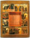 Рама к Седмиезерной иконе Богоматери с клеймами сказания