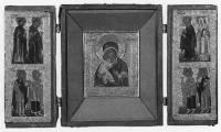 Киот-складень с изображением Богоматери и святых