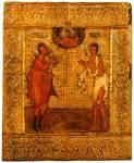 Прокопий и Иоанн Устюжские, предстоящие Спасу
