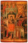 Сретение Владимирской иконы Богоматери, с избранными святыми на полях