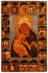 Богоматерь Владимирская, со сказанием в 18 клеймах
