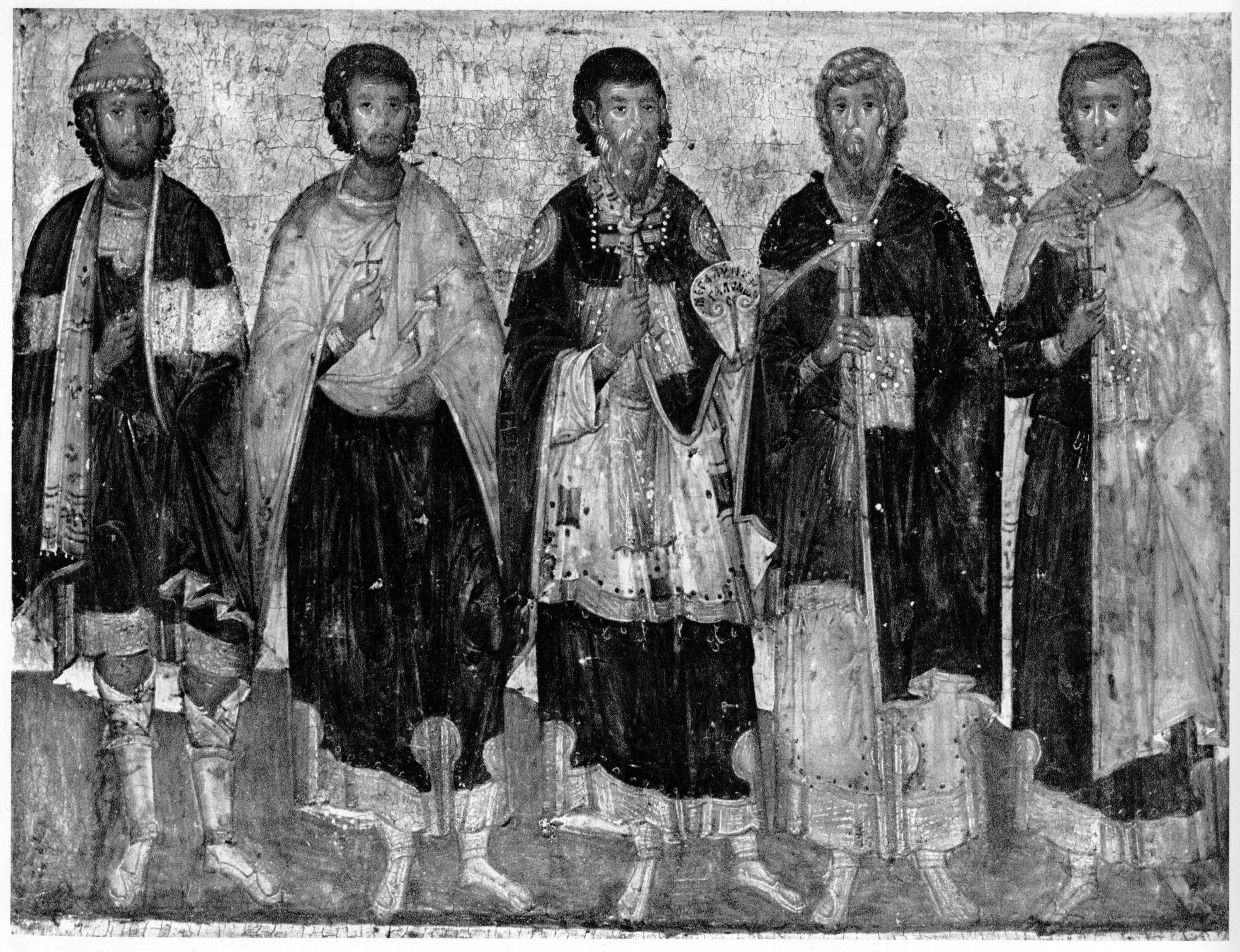 Пятозарные мученики: святые Евстратий, Авксентий, Евгений, Мардарий и Орест