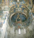 Фрески центральной апсиды и восточной части храма
