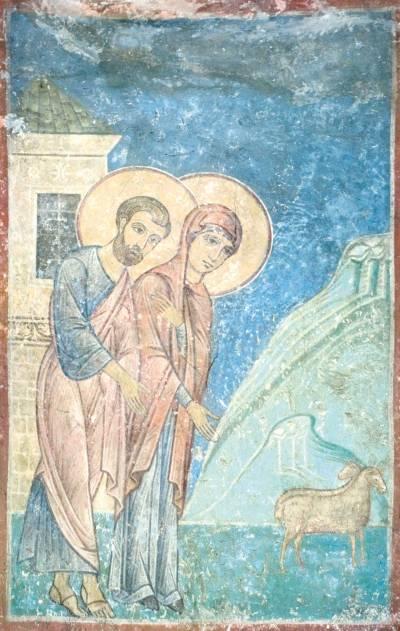 Иоаким и Анна отпускают жертвенных агнцев