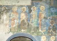 Роспись южной стены западной ветви подкупольного креста
