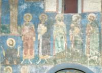 Роспись северной стены западной ветви подкупольного креста