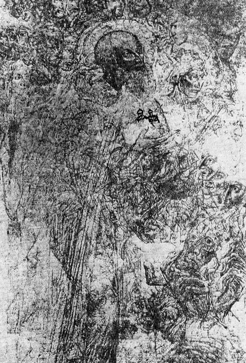 Василий Великий (?) с моделью каменного Благовещенского храма и Мария Египетская