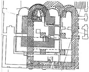 План первоначального Благовещенского храма 1390-1392 гг.