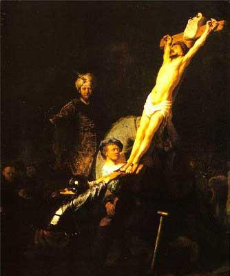 Рембрандт. «Поднятие креста»(1632)