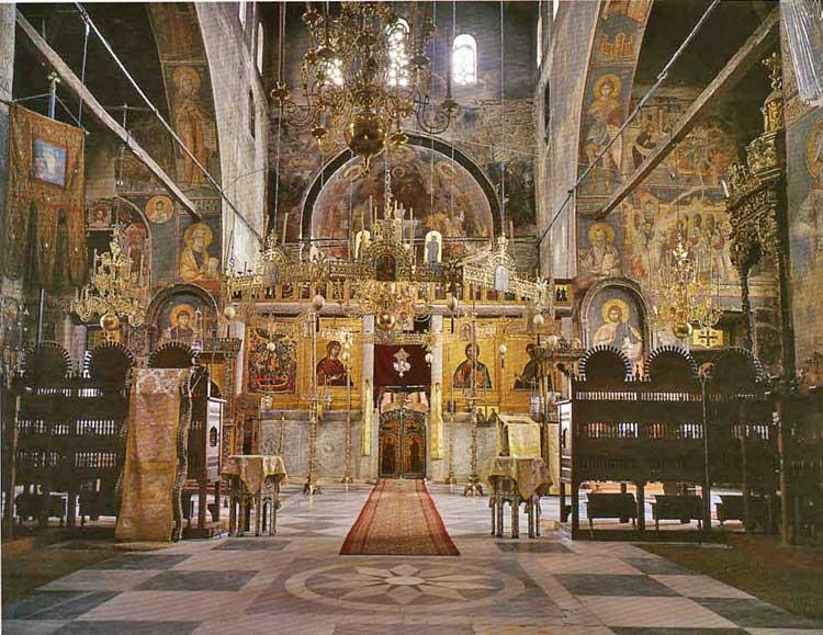 Успенский собор Протата. Святая гора Афон. Интерьер