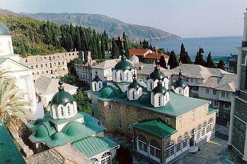 Свято-Пантелеимонов монастырь. АфонОбщий вид с северо-запада