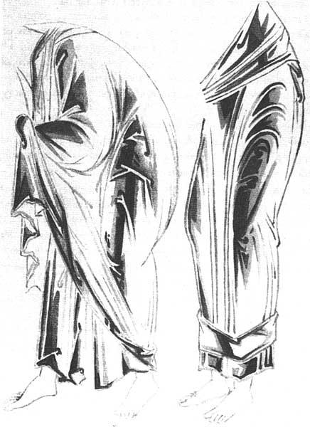 Одежды апостоловБоковой поворот полуфигур