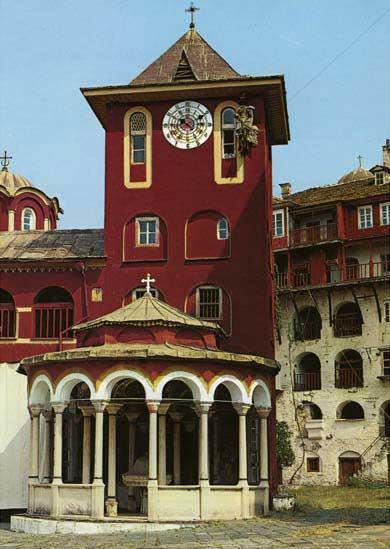 Византийская звонница кафоликона. Часы «с арапом»