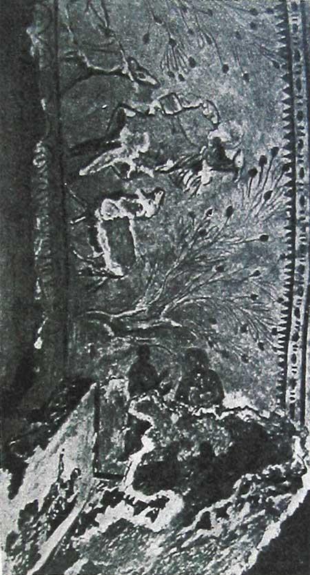 Парус свода в аркосолииКатакомбы Св. Прискиллы