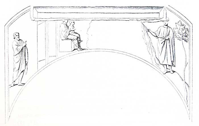 Роспись люнета в катакомбе Домитиллы