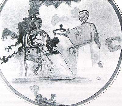 Фреска «Благовещения» (?)Катакомбы св. Прискиллы
