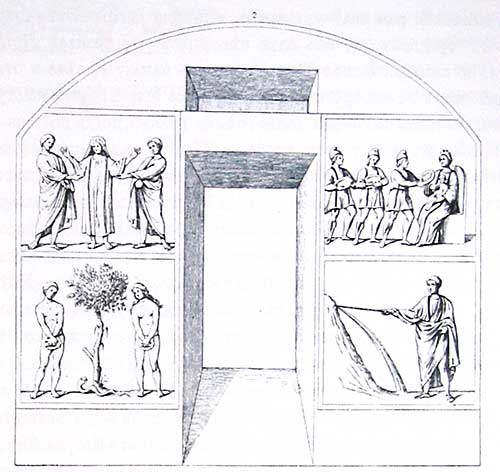 Роспись в катакомбе Петра и Марцеллина