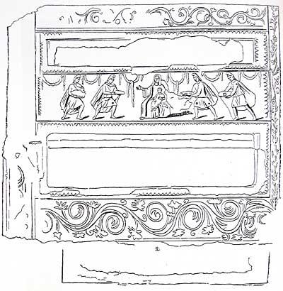 Общий вид росписи в галерее катакомбы св. Домитиллы