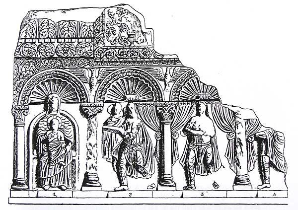 Амвон из Салоник в Константинопольском музее