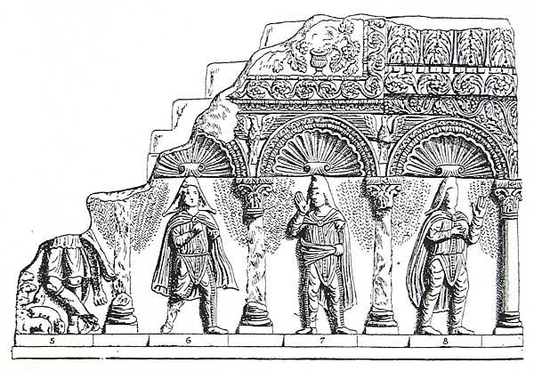 Амвон, перенесенный из Салоник в музей Константинополя