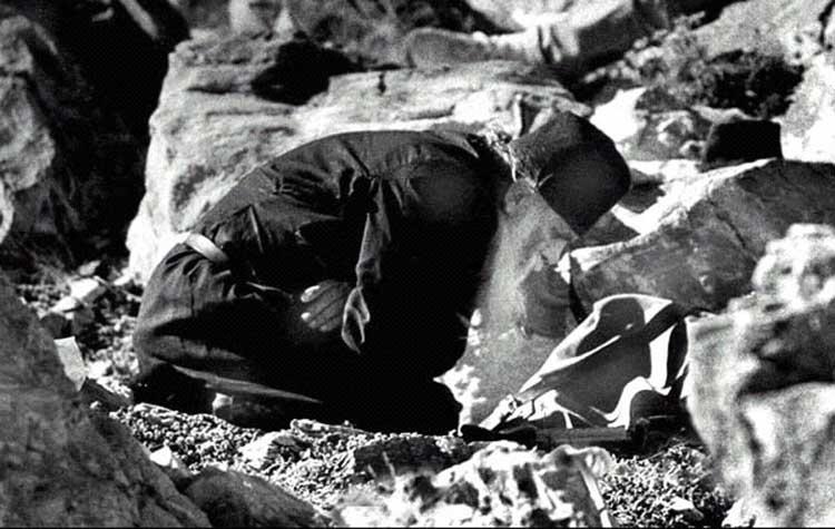 Афонский исихаст в «умной молитве»