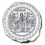 Богоматерь Оранта с апостолами Петром и Павлом