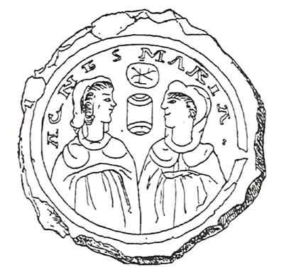 Богоматерь и св. Агния