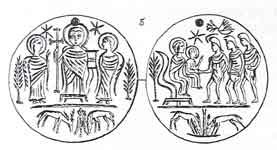 Медальон со сценой «Поклонения волхвов»