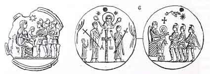 Медальоны со сценами «Поклонения волхвов»