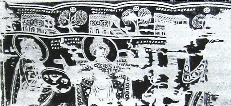 Изображения мартириев на ткани Берлинского музея
