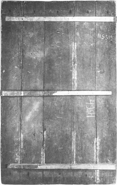 Тыльная сторона иконы Петр и Павел