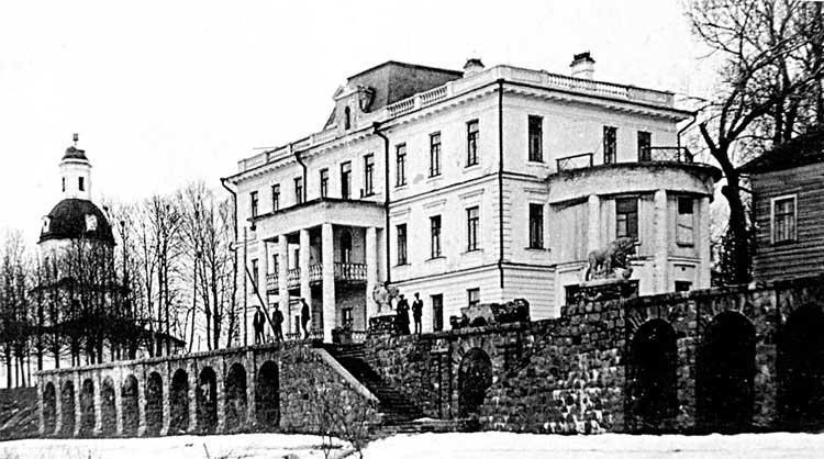 Усадьба графов Мусиных-Пушкиных в селе ИловнаФотография 1930-хгг.