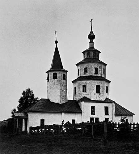 Крестовоздвиженская церковь в МологеФотография конца XIX — начала XXв.