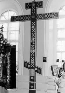 Крест-копия «мерой и подобием» Кийского креста в действующем храме г. ОнегаКопия живописная
