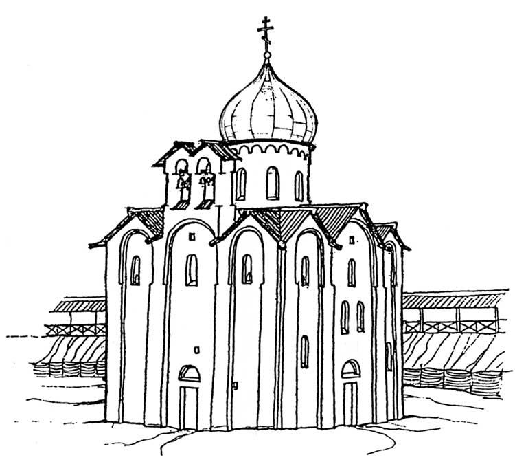 Георгиевская церковь в конце XVIстолетия