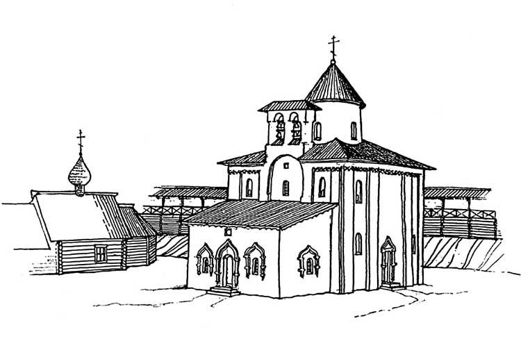 Георгиевская церковь в конце XVIIстолетия