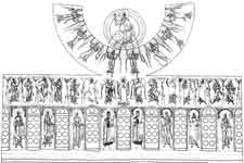 Церковь святого Георгия в Старой Ладоге. Схема росписи купола