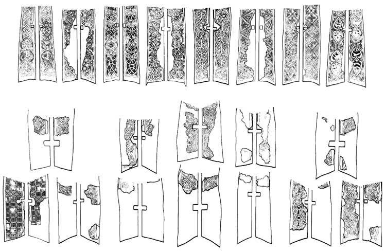 Схемы орнаментов окон