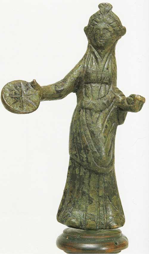 Женская бронзовая фигурка