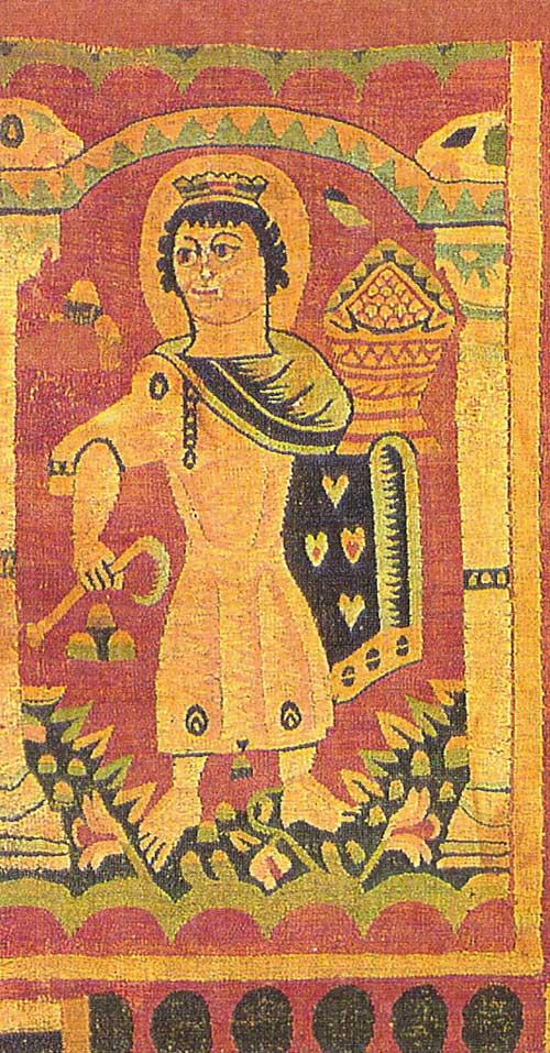 Коптская ткань с персонифицированными изображениями месяцев