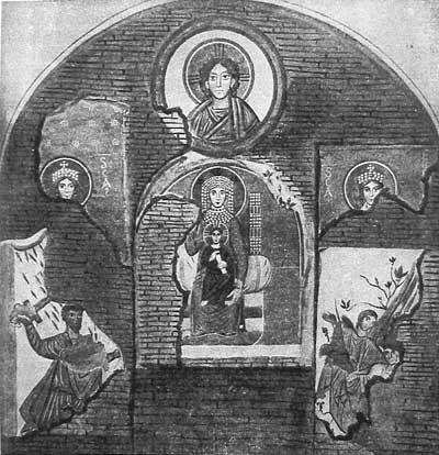 Группа изображений вокруг образа «Божией Матери с Младенцем»