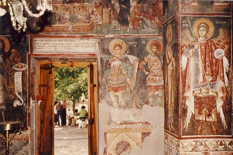Фрески южного портала церкви св.Никиты