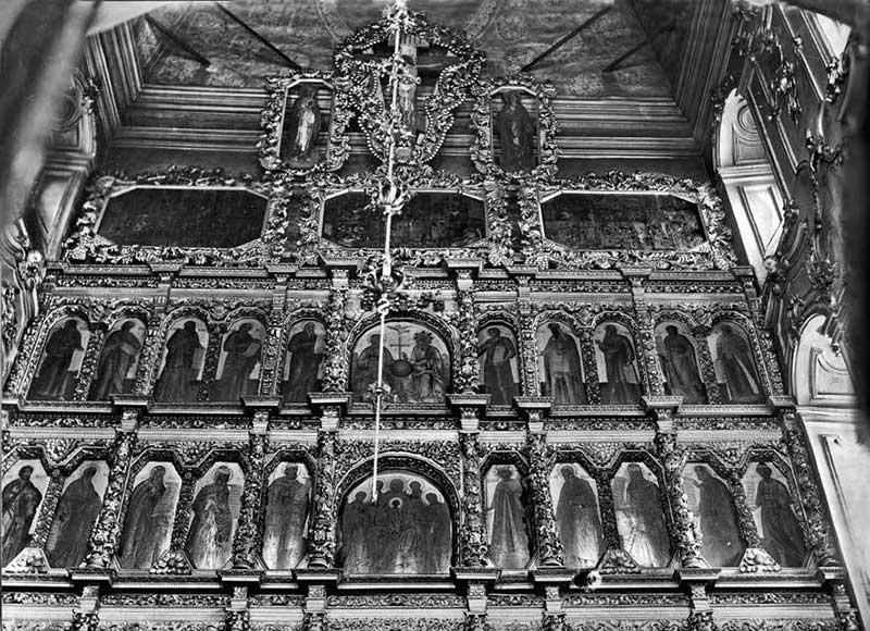 Иконостас церкви Николы «Большой Крест». Конец XVIIв. — начало XVIIIв.(?)Фотография. 1933