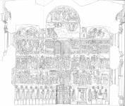 Схема фресок на западной стене Архангельского собора