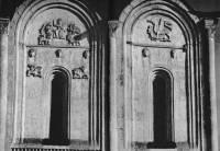 Церковь Покрова на Нерли. Северный фасад. Верхняя часть среднего и западного прясел