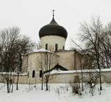 Спасо-Преображенский собор Мирожского монастыря. Вид с северо-востока
